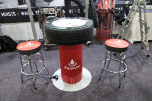 Alemlube Wheel Table and Banner 1