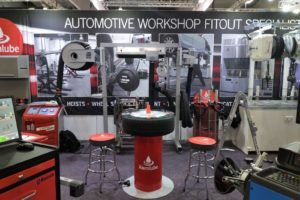 Alemlube Wheel Table and Banner 2
